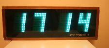 "VINTAGE RARE VFD NIXIE TUBE ELECTRONIC WOODEN WALL CLOCK ""ELEKTRONIKA 7-06K USSR"