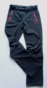 CMP Damen Funtionshose Wanderhose Trekkinghose mit Zipper Gr.38 Schwarz