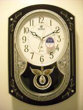 Power quartz musical melody pendulum wall clock (PW6136CPMKS)