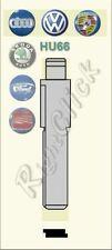 Key Blade for RIGHT CLICK remotes HU66 HAA VW Golf T5 - Key Uncut