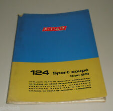 Spare Parts Catalogue Body Fiat 124 Sport Coupe Stand 1972