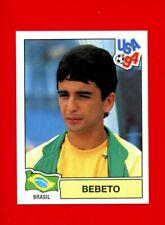 PANINI WC WM FRANCE 98 1998 N 30 BRASIL BEBETO WITH BLACK BACK MINT!!