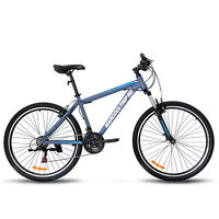 "27.5"" Men's Mountain Bike Shimano Hybrid 21 Speed Front Suspension Bicycle Blue"