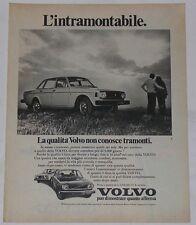Advert Pubblicità 1974 VOLVO 144