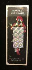 *RARE* 1988 Ronald McDonald Reflective Safety Sticker Fast Food Premium *WOW*