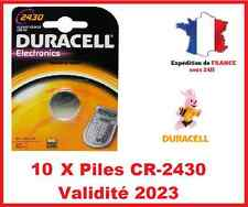 10 Piles CR-2430- DL-2430 DURACELL bouton Lithium 3V DLC 2025