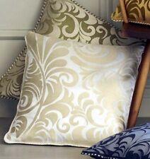 """Sferra Corsini Embroidered Pillow COVER 100% Linen White/Ivory 19"""" No Fill New"""