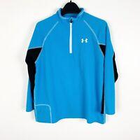 Under Armour Boys Athletic Sweatshirt Jacket Size Large Blue Gray