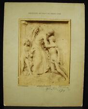 Paul GASQ 1889 Sculpture bas-relief répertorié ? dédicace à Léon CHAVALLIAUD