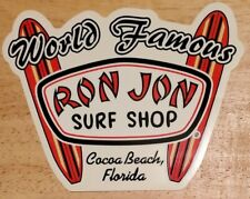"Ron Jon Surf Shop ""World Famous"" Cocoa Beach, Florida Unused Sticker - Hang 10!"