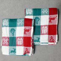 Linens TOWEL Dish CHRISTMAS Cotton Kitchen RITZ Reindeer Snowman Snowflake