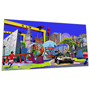 """The """"Sights Of Belfast"""" Wall Art - Graphic Art Poster"""