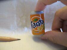 B019 Dollhouse Miniature Can of Fanta drink orange juice migros supermarket 1:3