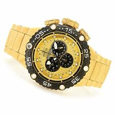 @NEW Invicta 52mm Subaqua Noma VI Swiss Quartz Chronograph Gold tone 21676