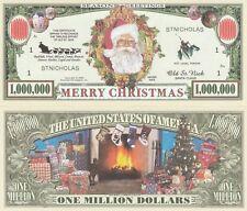 Merry Christmas Million Dollar Bill Play Funny Money Novelty Note +FREE SLEEVE