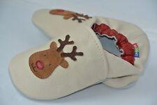 NEW Carozoo Kids Youth 6-7 Years Sz 2.5 Boys Girls Reindeer Leather Shoe RARE