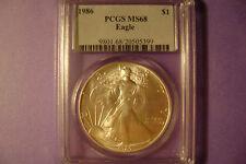 1986 American Silver Eagle ( PCGS MS68 )