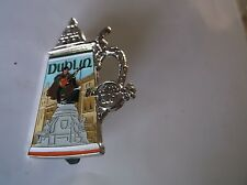 Dublin Ireland Opening Lid Beer Stein Hard Rock Cafe Pin