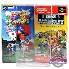 10 x Super Famicom Game Box Protectors STRONGEST 0.5mm PET Plastic Display Case