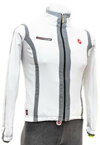 Castelli Insolito Radiation Jacket Men SMALL White Road Bike Mountain Fat Gravel