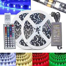 10M 2538 RGB LED Strip Lights Colour Changing Tape 44Key Controller Adapter Kit