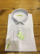 "Remus Uomo Tapered Paisley Shirt/Lilac - 15.5"" (M) WAS £59.99"