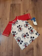 Mickey Mouse Print Rashguard 3T Toddler Boys Junk Food Disney Swim Shirt