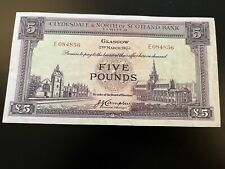 More details for clydesdale & north of scotland bank 1953 five pound note. uncirculated