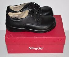 Alegria Women's Kim-601 Oxfords Shoes Black Leather Size 38 New