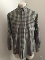 ORVIS Long Sleeve Plaid Shirt Mens Size Medium Button Down Collar
