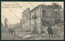 L'Aquila Pescina Terremoto Militari cartolina QQ3988