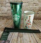 Starbucks 2019 Christmas Holiday Glitter Tumbler + Xtra Straw Set+ XMAS  Mug