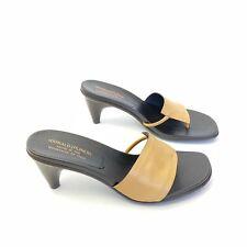 Donald J Pliner Size 9.5 Tatum Tan Leather Slide Dress Sandal Women's Italian