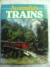 Australia's Trains Gary McDONALD Steam Diesel Electric Locomotives 1989 hcdj B70