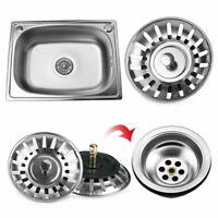 Kitchen Stainless Waste Steel Sink Drain Strainer Basket Plug Stopper Filter