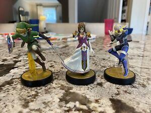 Nintendo Amiibo Link, Zelda & Shiek Lot from Super Smash Bros