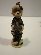 Boyd's Bears Folkstone Collection Santa Bear Holding Fire Hydrant Figurine