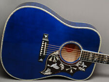Gibson Hummingbird Viper Blue Custom Quilt