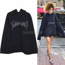 New Oversized Vetements Print Hoodie Hooded Sweatshirt Rihanna Streetwear Celeb