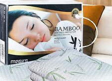 Bamboo Waterproof Mattress Protector Soft Hypoallergenic Pad Bed Topper Cover Cv