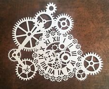 Large Steampunk Gear Clock Die Cuts - White (pack Of 4)