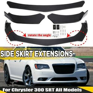 3PCS Carbon Fiber Look Front Bumper Lip Spoiler Splitters For Chrysler 200 / 300