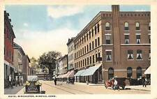 WINSTED, CT, HOTEL WINCHESTER, STREET VIEW, CARS,DANZIGER & BERMAN PUB used 1917