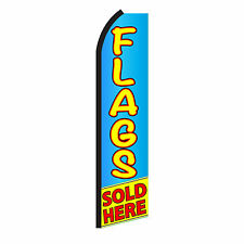 Flags Sold Here Advertising Sign Swooper Feather Flutter Banner Flag Only