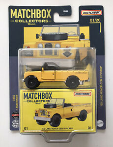 2021 MATCHBOX Collectors #1 - '65 Land Rover Gen II Pickup (Yellow) - New