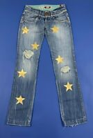 Take two jeans donna usato gold stars stella oro W28 tg 42 denim boyfriend T5241