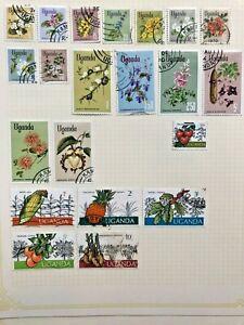 Uganda 96 stamp collection 1971 to 1996