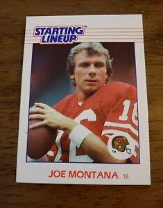 1988  JOE MONTANA - Kenner Starting Lineup Card - SAN FRANCISCO 49ERS