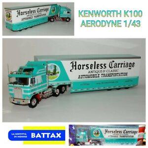 #1/43 Kenworth K100 AERODYNE - IXO/ALTAYA Diecast + Box Truck Trailer #