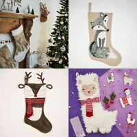 Sass & Belle  Fox Reindeer Llama Unicorn Christmas Stocking Xmas Home Decoration